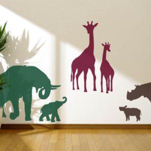 giraffes rhino elephant
